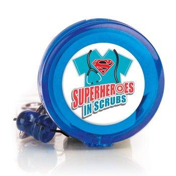 Superheroes In Scrubs Retractable Badge Holder