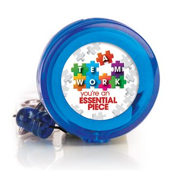 Teamwork You're An Essential Piece Blue Retractable Badge Holder