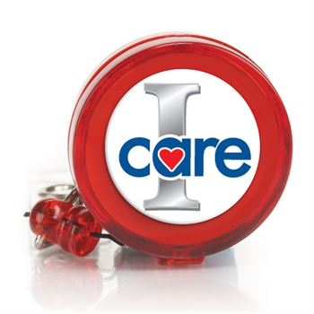 I Care Retractable Badge Holder