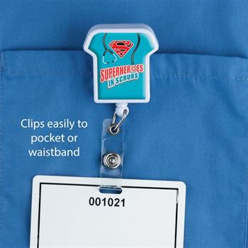 Superheroes Scrubs Retractable Badge Holder