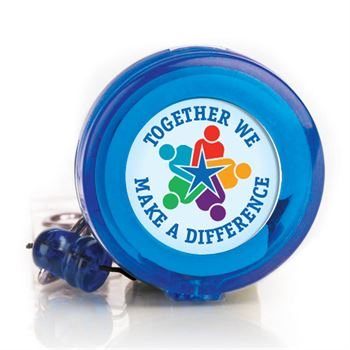 Together We Make A Difference 4-Color Retractable Badge Holder