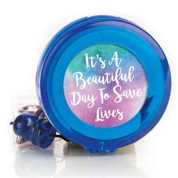 It's A Beautiful Day To Save Lives Retractable Badge Holder