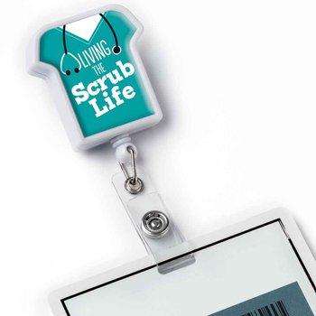 Living The Scrub Life Retractable Badge Holder