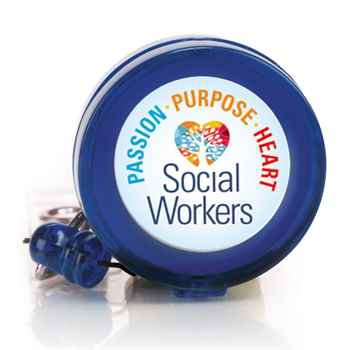 Social Workers: Passion, Purpose, Heart Retractable Badge Holder