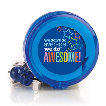 We Don't Do Average, We Do Awesome! 4-Color Retractable Badge Holder