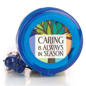 Caring Is Always In Season 4-Color Retractable Badge Holder