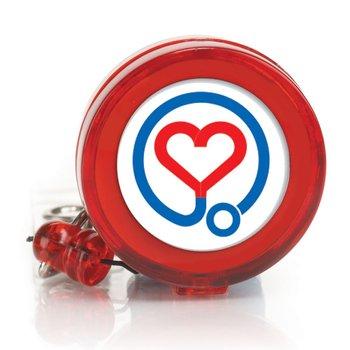 Nurses Heart 4-Color Retractable Badge Holder