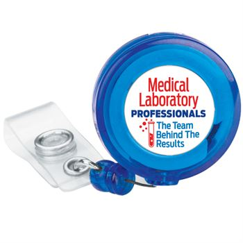 Medical Laboratory Professionals: The Team Behind The Results 4-Color Retractable Badge Holder