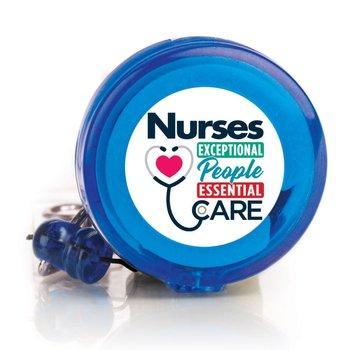 Nurses: Exceptional People, Essential Care Four Color Retractable Badge Holder