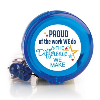 Proud Of The Work We Do & The Difference We Make 4-Color Retractable Badge Holder