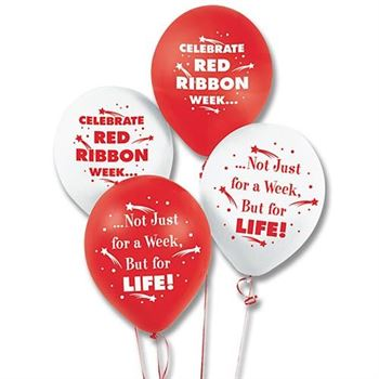 Red Ribbon Week Celebration Balloons - Pack of 50