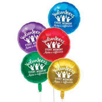 Volunteers: Every Moment Makes A Difference Foil Celebration Balloons