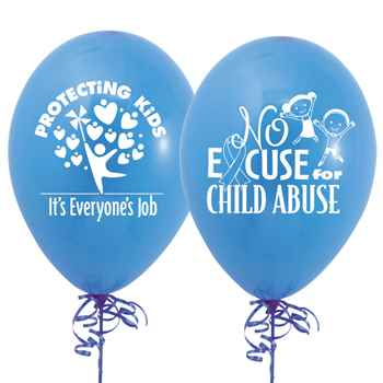 Protecting Kids: It's Everyone's Job Child Abuse Prevention 2-Sided Balloons - Pack of 50