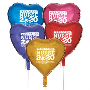 Year Of The Nurse 2020 Foil Celebration Balloons - Pack of 5