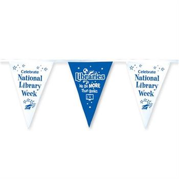 Libraries: We Do More Than Books 60' Stringed Pennants