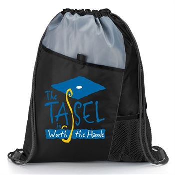 The Tassel Is Worth The Hassle™ Graduation Cap Black Backpack