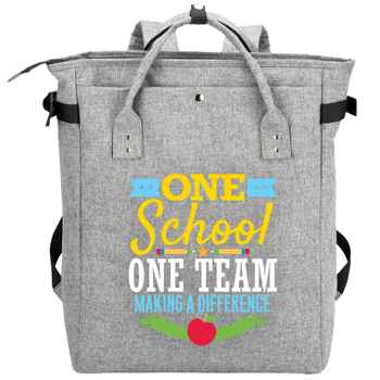 One School, One Team: Making A Difference Freeport 2-In-1 Tote Bag/Backpack