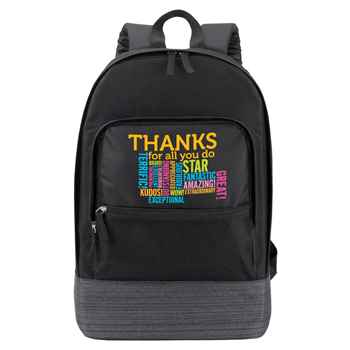 Thanks For All You Do Manchester Laptop Backpack