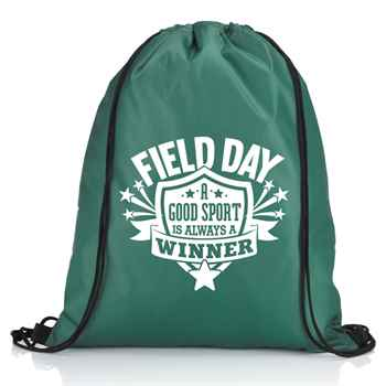 Field Day: A Good Sport Is Always A Winner Drawstring Backpack
