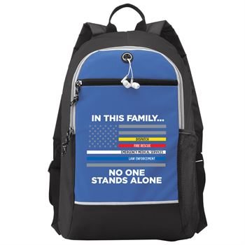 In This Family No One Stands Alone Bayside Backpack