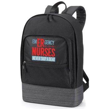 Emergency Nurses Never Skip A Beat Manchester Laptop Backpack - Black