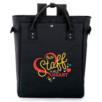 Our Staff Is All Heart Freeport 2-In-1 Tote/Backpack