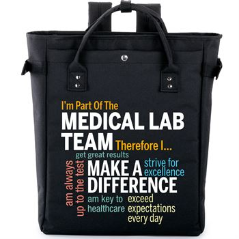 I'm Part Of The Medical Lab Team Therefor I... Freeport 2-in-1 Tote Bag/Backpack