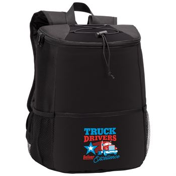 Truck Drivers Delivers Excellence Hemingway Backpack Cooler