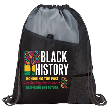 Black History: Honoring The Past, Celebrating The Present, Inspiring The Future Drawstring Backpack