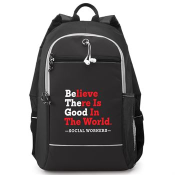 Social Workers Believe There Is Good In The World Bayside Backpack