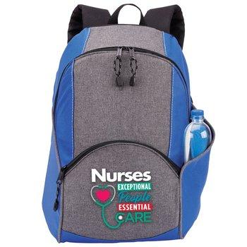 Nurses: Exceptional People, Essential Care Blue Aspen Backpack