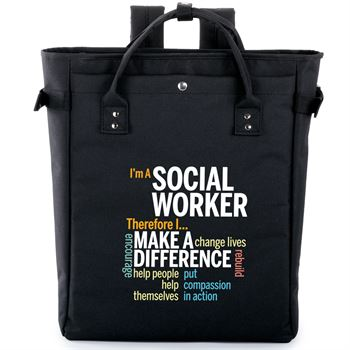 I'm A Social Worker Therefore I... Freeport 2-in-1 Tote Bag/Backpack