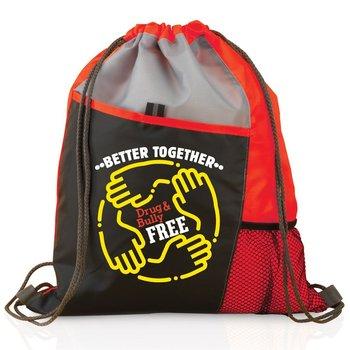 Better Together: Drug & Bully Free Drawstring Backpack
