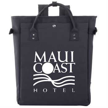 Black Freeport 2-In-1 Tote Bag/Backpack  - Personalization Available