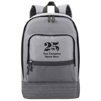 25th Anniversary Gray Manchester Laptop Backpack - Personalization Available