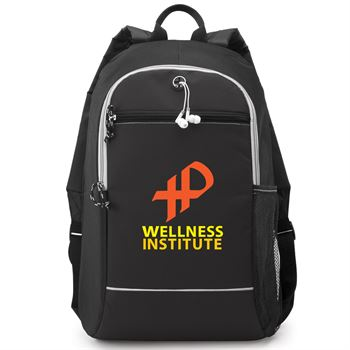 Black Bayside Backpack - Full Color Personalization Available