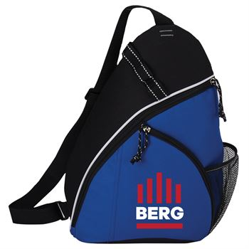 Blue Westfield Sling Backpack - Full Color Personalization Available