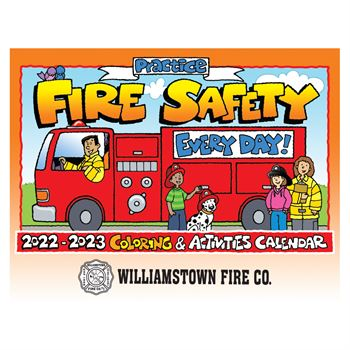 Practice Fire Safety Coloring & Activities 2019-2020 Calendar - Personalization Available