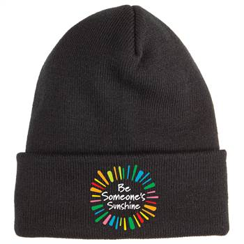 Be Someone's Sunshine Soft Knit Embroidered Beanie