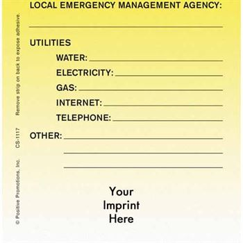 Emergency Phone Numbers E-Z Stick Glancer