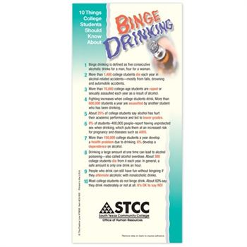 10 Things College Students Should Know About Binge Drinking Glancer - Personalization Available