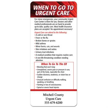When To Go To Urgent Care/When To Go To The ER E-Z 2 Stick Glancer - Personalization Available