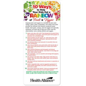 10 Ways To Help Your Kids Eat A Rainbow Of Fruits & Veggies E-Z 2 Stick Glancer - Personalization Available