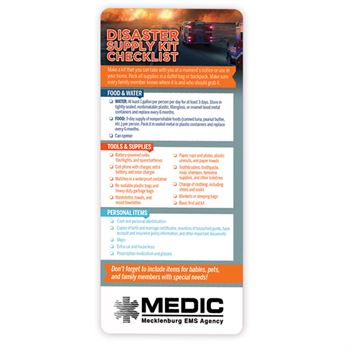 Disaster Supply Kit Checklist E-Z 2 Stick Glancer - Personalization Available
