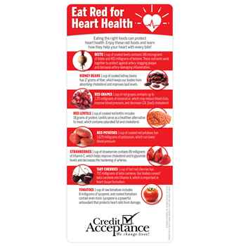 Eat Red For Heart Health E-Z 2 Stick Glancer - Personalization Available