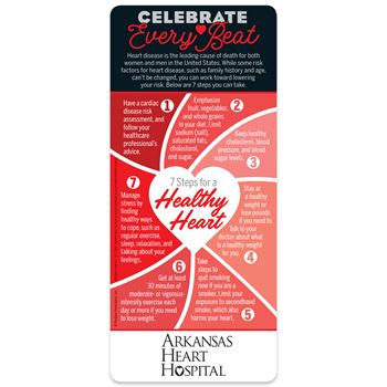 Celebrate Every Beat: 7 Steps To A Healthy Heart EZ 2-Stick Glancer - Personalization Available
