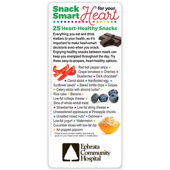 Snack Smart For Your Heart: 25 Heart-Healthy Snacks E-Z 2 Stick Glancer - Personalization Available
