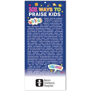 101 Ways To Praise Kids 2-Sided English/Spanish Glancer - Personalization Available