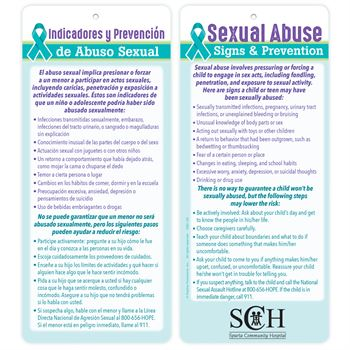 Sexual Abuse Signs & Prevention English/Spanish Glancer - Personalization Available