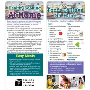 Healthy Cooking At Home 2-Sided Glancer - Personalization Available